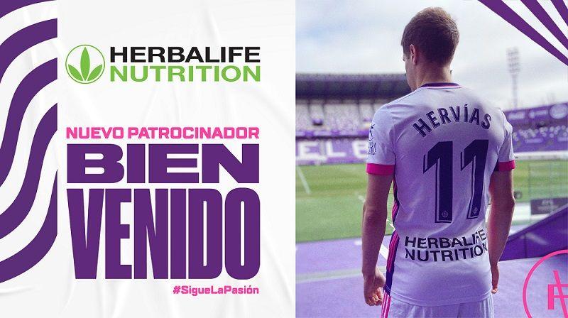Foto de Herbalife Nutrition, nuevo patrocinador del Real Valladolid