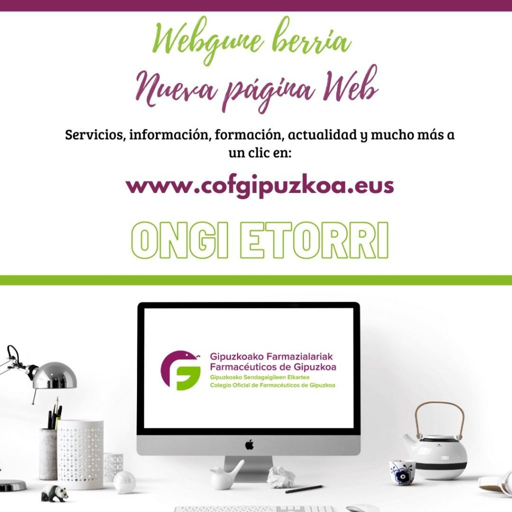 Foto de La nueva web está disponible en www.cofgipuzkoa.eus