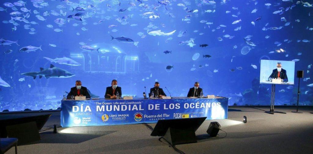 Foto de Día Mundial de los Océanos en el acuario Poema del Mar